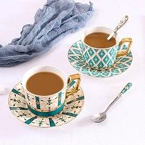 European Style Coffee Set Ceramic Coffee Cup Tableware Set British Afternoon Tea Set Black Tea Set Cup and Saucer SZ-CS21011003