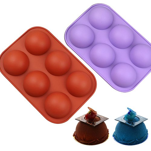 Teyaao 6 Hole Hot Cocoa Boom molds Half Sphere chocolate bomb  Pudding Jelly/Ice/Cake/Pastry Mould forms for chocolate