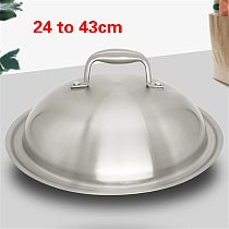 24-43cm High arch stainless steel pot cover thickening for household use cookware  baking accessories  stove cover miracle lids