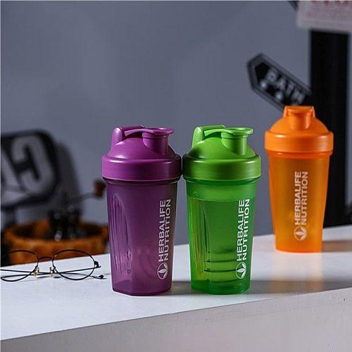 Sports Shaker Bottle Whey Protein Milkshake Mixing Bottle Sport Fitness Gym Stirrer Portable Outdoor Plastic Drink Bottle 400ML