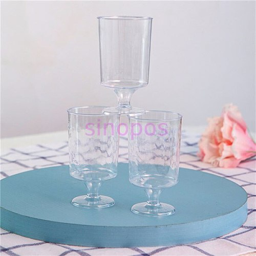 10pcs disposable plastic mini clear wine cup, 100ml Ice cream/mousse/pudding cups, transparent round mouth small goblet ,SP01