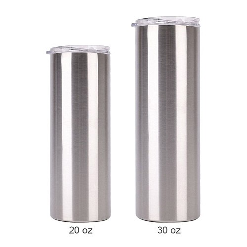 30oz sublimation blank skinny tumbler stainless steel insulated water bottle double wall vacuum travel Cup
