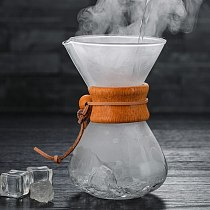 Glass Coffee Pots With Stainelss Steel Filter Coffee Percolators Heat Resistant Coffee Maker Pot Brewer Glass Coffee Kettle