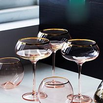 Household high value red wine glass crystal glass ice cream glass champagne glass wine set cocktail glass  glass cup