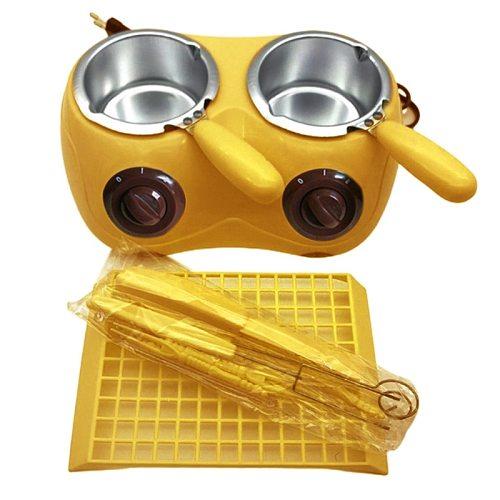Aluminum Liner Plastic Hot Chocolate Melting Pot Electric Fondue Melter Machine D0JE