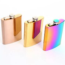 8oz High Quality sparkly hip flask personalized for women Gift Wine Whisky Pot Bottle Drinker Bottle Portable Stainless Steel