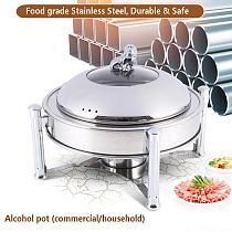 24cm stainless steel alcohol stove household /commercial small chafing dish solid fuel boilersmall dry hot pot