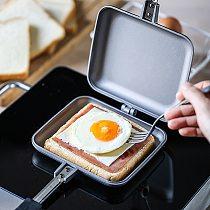 Aluminum Frying Pan Non-Stick Sandwich Maker Non-Smoke Toast Mold Double-Sided Frying Pan Heat-Resistant Sandwich Steak