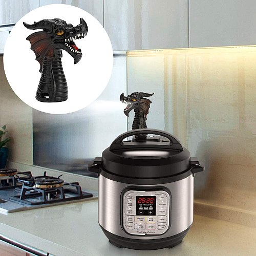 Fire-breathing Dragon Original Steam Release Steam Diverter For Pot Pressure Cooker Kitchen Supplies Cookware Gift For Family