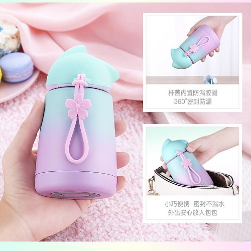 300ml Rabbit Thermo Cup Stainless Steel kid Thermos bottle For water Thermo Mug Cute Thermal vacuum flask child Tumbler