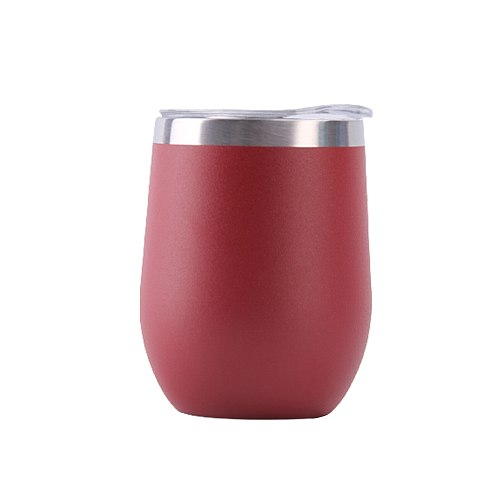 12oz Vacuum Insulated Drinkware With Lid Coffee Cup Mug Home Office Reusable Water Bottle Wine Tumbler Cocktails Stainless Steel
