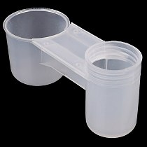 5Pcs New Plastic Bird Feeder Clear Water Bottle Drinker Cup for Pigeon Bird Accessories