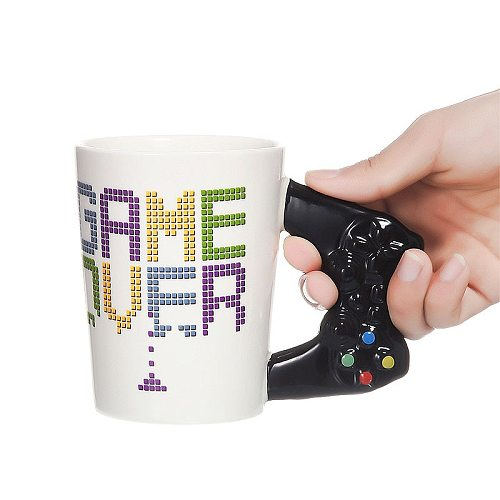 400ml Funny Gamepad Ceramic Mugs with Handle Tea Cups Cafe Mug Creative Game Pattern Cups Fashion Novelty Gifts