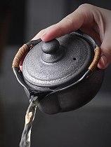 Japan Style Handmade Coarse Pottery Teapot Ceramic Kung Fu Small Tea Bowl Retro Teacup Creative Coffee Water Mug Drinkware Set