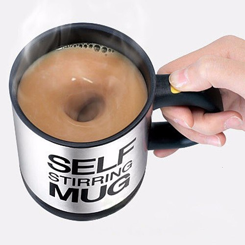 Electric Stainless Steel Auto Self Stirring Coffee Mug Magnetized Mixing Cup Drop Ship