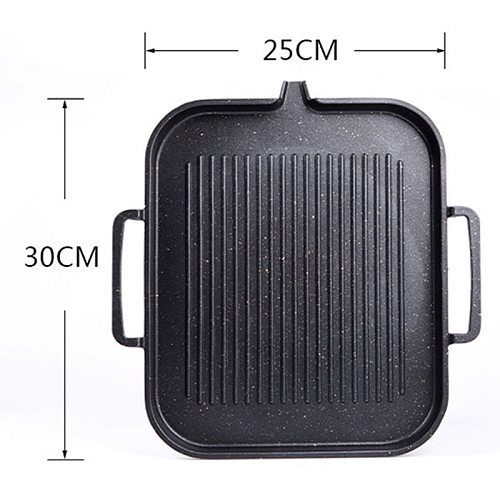 Induction Cooker Baking Pan Korean Maifan Stone Square Baking Pan Household Non-Stick Barbecue Pan Barbecue Plate