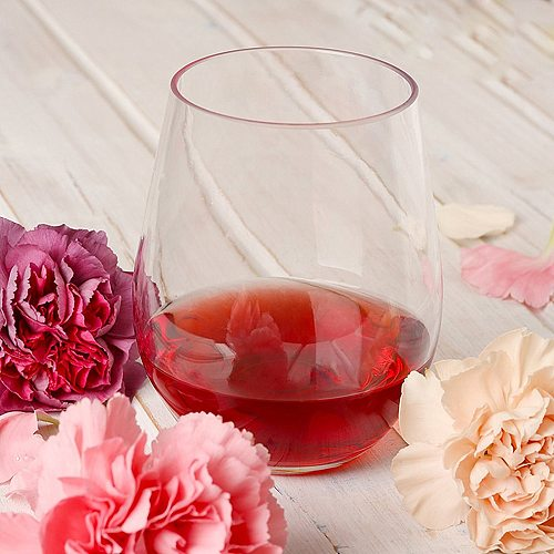 4pcs/set Wine Shatterproof Plastic Unbreakable Red Tumbler Cups Reusable Transparent Fruit Juice Beer Coffee Cup