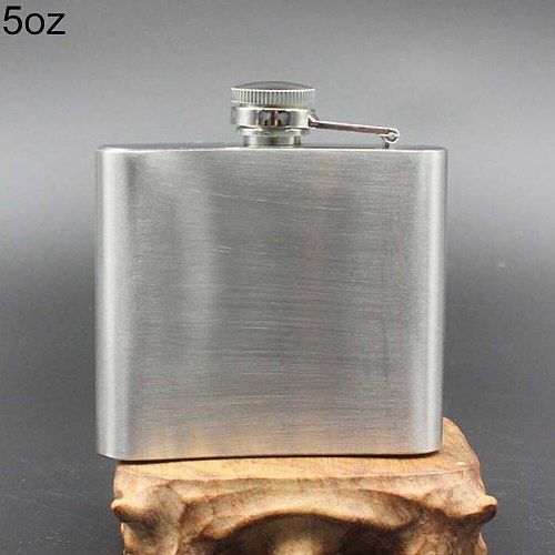4 5 6 7 8 10 oz portable stainless steel hip flask travel  Whiskey Alcohol Hip Flask Cap Funnel Men's portable hip flask