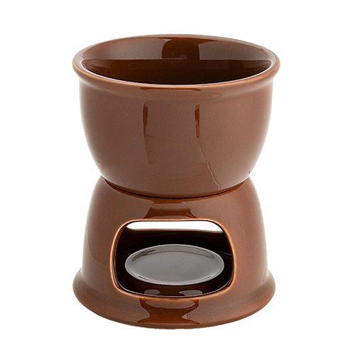 Ceramic Chocolate Fondue Set Ice Cream Cheese Pot Set Porcelain Melting Pot U90A