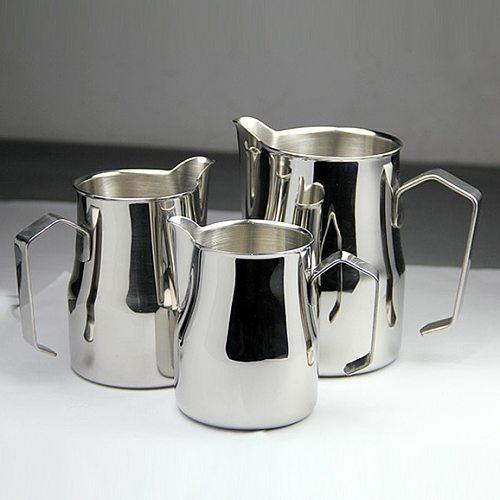 FeiC 1pc 350ml/550ml/750ml Motta style  Stainless Steel Milk Pitcher/Jug Milk Foaming Jug/Non-stick coatin for Barista latte art