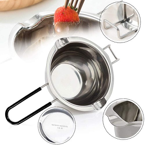 New Stainless Steel Chocolate Melting Pot 600ML with Anti-Scald Handle Perfect for Melting Butter Chocolate Double Boiler