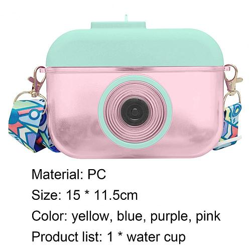 Water Cup Large Capacity Camera Shape Food Grade PC Creative Water Bottle for Girls