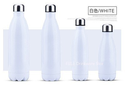 350/500/750/1000ml Double-wall Creative BPA free Water Bottle Stainless Steel Beer Tea Coffee Portable Sport Vacuum thermos