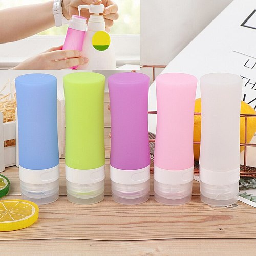 50/60ML Portable Silicone Refillable Bottle Empty Travel Packing Press For Lotion Shampoo Cosmetic Squeeze Containers