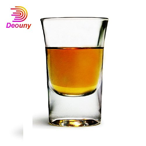 DEOUNY Bullet Shots Thick-Bottomed Standard 1OZ A Cup Of Liqueur Crystal Vitreous Wine Glass Shot B52 Cocktail Glass Bar Tools