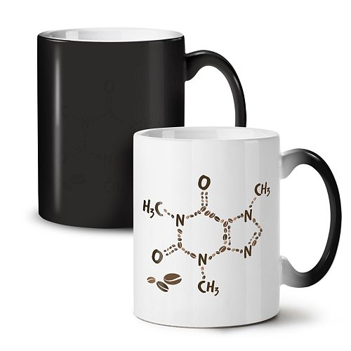 Coffee Formula Chemistry Black Colour Changing Tea Coffee Ceramic Mug 11 Oz