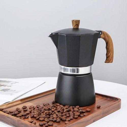 3/6Cups Latte Mocha Coffee Maker Italian Moka Espresso Cafeteira Percolator Pot Stovetop Coffee Maker Multicolor High Quality