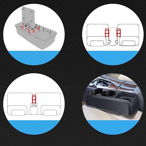 1pcs Car Armrest Seat Crevice Water Cup Holder Organizer Drink Holder Beverage Bottle Storage Box Case Car Accessories
