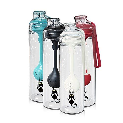 Tea Water Bottle BPA Free Tea Cup Fruit Mug Infuser Juice Shaker Sports Tour hiking Portable Climbing Camp Bottles with infuser