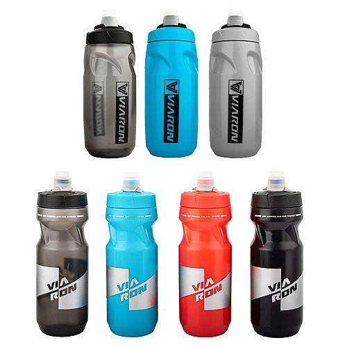 VIARON Bicycle Water Bottle 620ML MTB Leak Proof Cycling Drinking Mountain Bike Sports Bottle Dustproof Cup Portable Bike Bottle