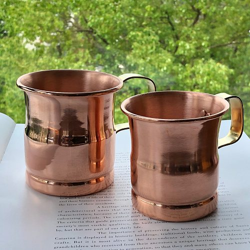 Pure Copper Beer Milk Mug Handcrafted Moscow Mule Cup Moscow Mule Drinkware Tableware