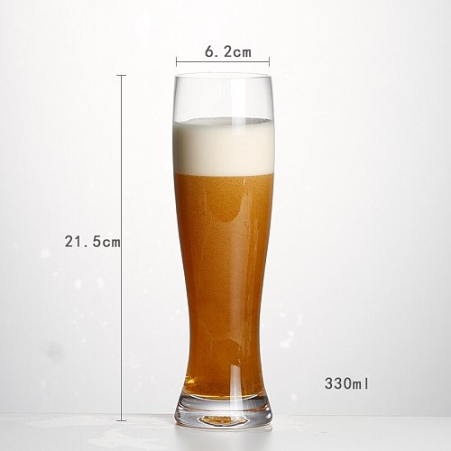 2 Pack Transparent Glass Craft Wheat Beer Cup Waist Juice Juice Beer Cup Restaurant Water Bar Hercules Cup 600009