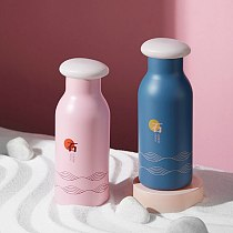 Travel Hot Water Bottle 304 Stainless Steel Tumblers Cute Thermos Bottle Creative Colorful Insulated Thermo Coffee Mug Cup 360ml