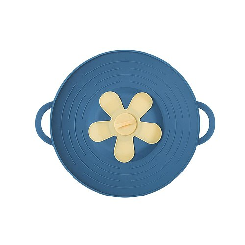 Silicone Anti-Overflow Cover Pot Lid For Heightening Cooking Pot Cover Spill-Proof Kitchen Gadgets Accessories Tools