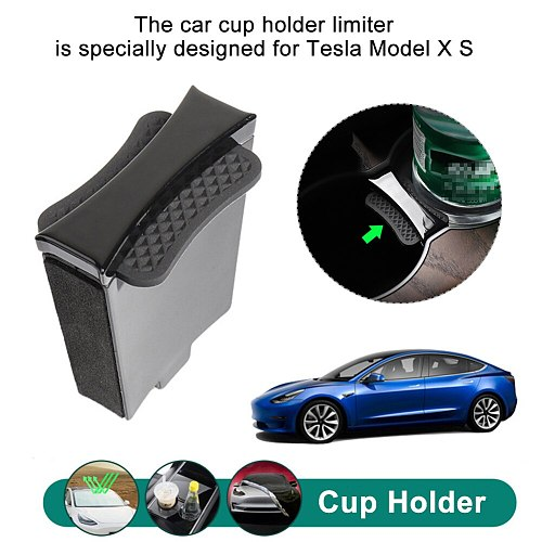 Center Console Insert Car Cup Holder For Tesla Model X S Limiter Slot Stabilizer Water Bottle Coffee Non Slip Interior Accessory