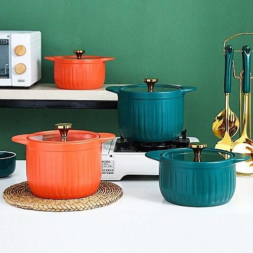 Ceramic casserole stew pot soup gas stove trumpet casserole clay pot domestic gas large capacity high temperature resistance