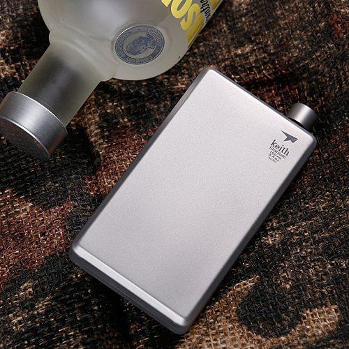 Portable 4oz Titanium Hip Flask Liquor Whisky Alcohol Cap Funnel Drinkware For Drinker Hip FlasK 120ml