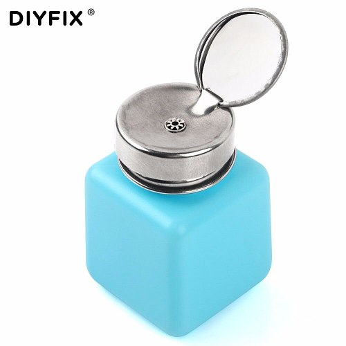 DIYFIX 120ML Empty Liquid Alcohol Press Bottle Glue Residue Remover Clean Tool Portable Dispenser Pump Bottle