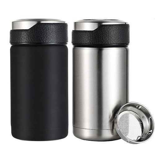 Mini 380ML Stainless Steel 304 Vacuum Flasks Thermos Mug Tea Infuser Coffee Mug Leak-Proof Travel Car Thermal Insulation Bottle