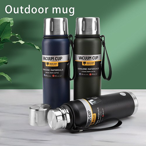 Outdoor Sports Thermos Travel Hiking Office Stainless Steel Portable Thermo Cup Maintain Temperature Efficiently Tea Vacuum Cup