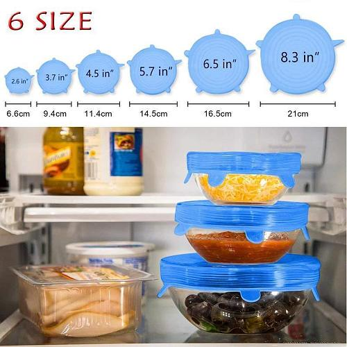 Kitchen Accessories Tools Reusable Stretch Lids Fresh Silicone Covers Anti-dust Leakproof Airtight Food Bowl Universal Pot Cover