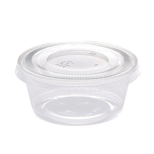 3.4 Oz Plastic Disposable Portion Cups With Lids