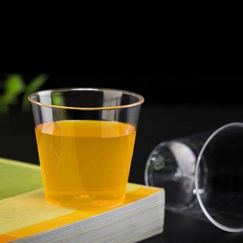 25pcs 150ml Disposable Dessert Cups Hard Plastic Tumblers Clear Containers Disposable Dessert Cup For Jelly Pudding