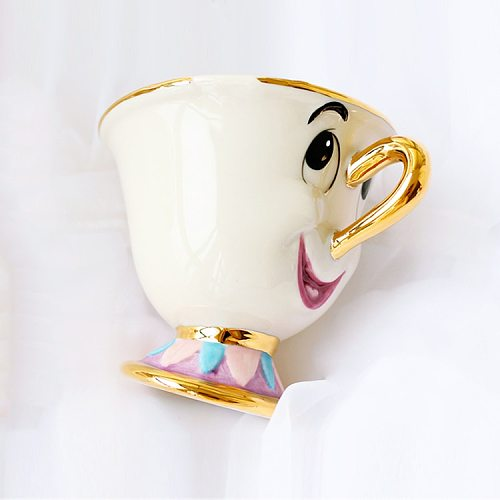 Cartoon Beauty And The Beast only Mug Mrs Potts Chip Tea cup sets coffee Cup 1PCS One Set Lovely Gift