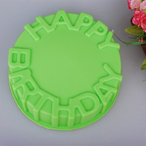 Round 8 inch  Birthday Cake Mold Silicone Cake Baking Pan/Silicone Mold for Anniversary Birthday Cake, Loaf, Muffin, Brownie