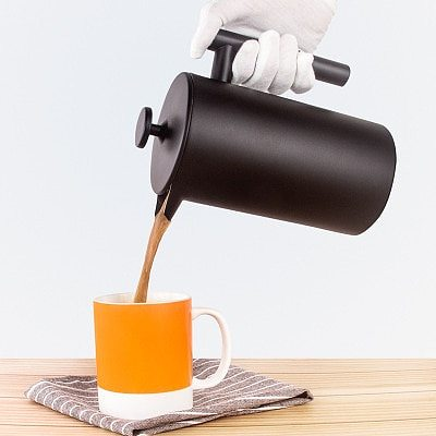 Hot Selling Coffee Espresso Maker Pot 350ML 800M 1000ML Tea Percolator Filter French Press Plunger Stainless Steel Teapot